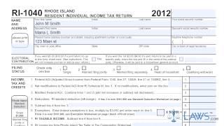 Form RI 1040 Resident Individual Income Tax Return