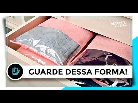 GUARDE SUAS ROUPAS DESSA FORMA - 5 DICAS!