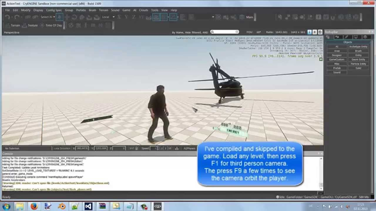CRYENGINE C++ tutorial - Action Maps and Cameras (Resident Evil style)