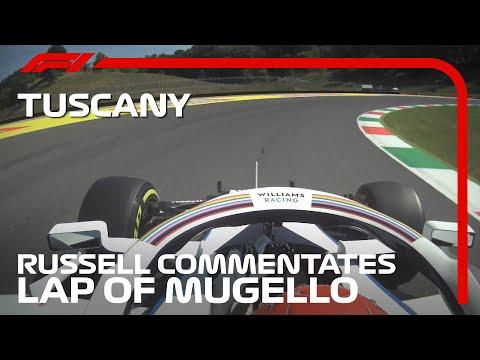 ムジェロサーキットのF1攻略法がわかる?!説明しながらF1マシンを走らせるジョージ・ラッセルのオンボード映像。F1 2020 第9戦トスカーナGP