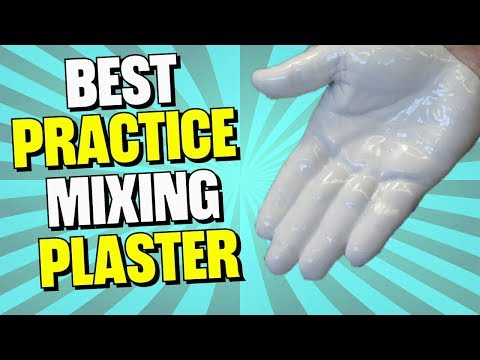 How to Mix Plaster of Paris Technique the Easy Way for Superior Strength Tutorial YouTube Video