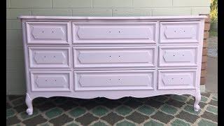 Furniture Redo: French Dresser In Pink