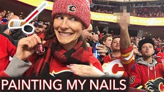 Painting My Nails at a Hockey Game (eh 🇨🇦
