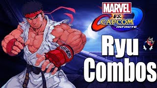 Ryu BNB and ADVANCED Day One Combos! Marvel vs Capcom Infinite MVCI