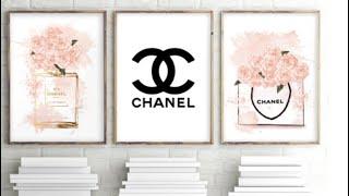 DIY Chanel Inspiration Wall Canvas Under $1