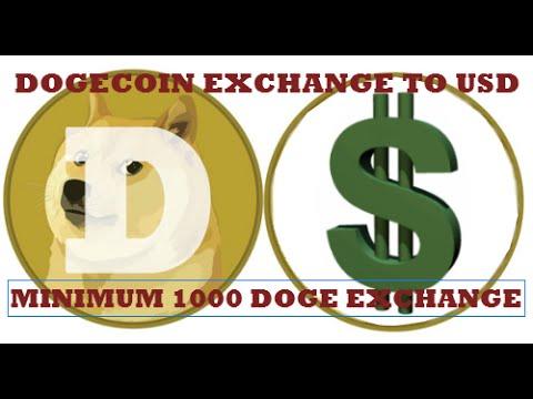 Dogecoin Exchange to USD Minimum 1000 Doge Exchange to Perfectmoney USD Quickly