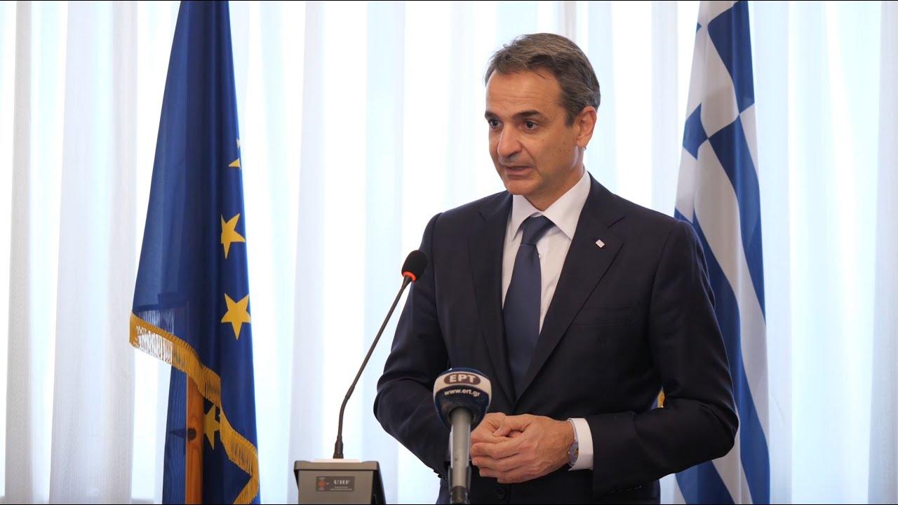 Χαιρετισμός του Πρωθυπουργού Κυριάκου Μητσοτάκη στην Ελληνική Πρεσβεία στην Τρίπολη