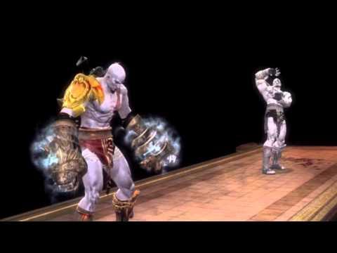 Mortal Kombat 9 Kratos Fatality 1, 2, Stage, and Babality (HD