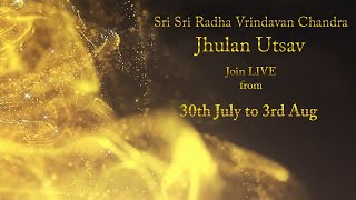 Sri Krishna Janmashtami 2020 | Sri Sri Radha Vrindavan Chandra Jhulan Utsav | Jai Radha Madhav Chant  IMAGES, GIF, ANIMATED GIF, WALLPAPER, STICKER FOR WHATSAPP & FACEBOOK
