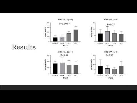Thumbnail image of video presentation for PGE2 Regulates the Plasminogen Activator Pathway in Human Endometrial Endothelial Cells: Differences between Normal and Heavy Menstrual Bleeders