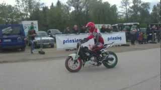 preview picture of video 'Stuntshows mit Becman Nagy (Ungarn) auf der Motofair 2012 in Reichertshofen'