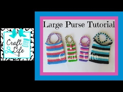 Craft Life Large Rainbow Loom Purse Tutorial   Tablet SleeveRainbow Loom Mini Purse Craft Life