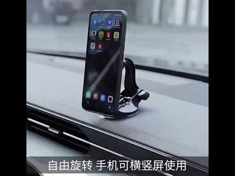 Round Red Magnetic Phone Holder for Dashboard Windshield Mount Adjustable Magnet Car Holder