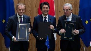 ЕС и Япония создали общую зоны свободной торговли