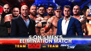 WWE 2K18 Survivor Series 2017 - Team RAW vs Team Smackdown 5 on 5 Elimination Match!