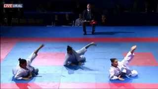 preview picture of video 'Kata Team female Final Karate1 Premier League, Tyumen 2013'