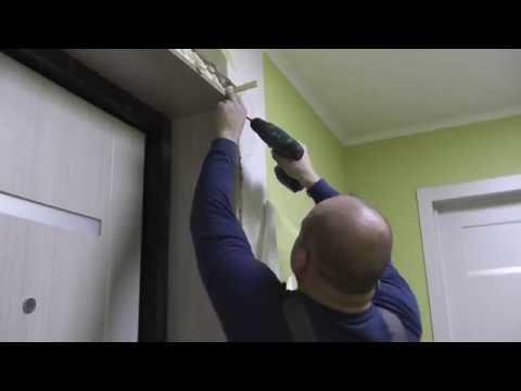 Монтаж дверных откосов (доборы) на входную дверь. Пошаговая инструкция.