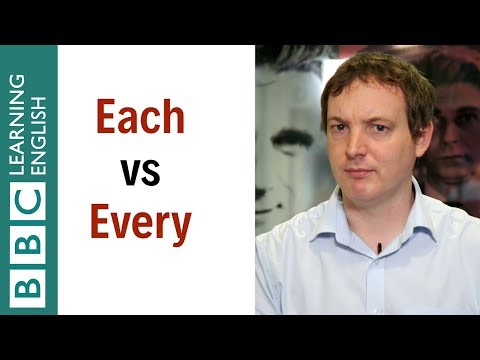 How to use each and every - English In A Minute