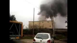 preview picture of video 'Pożar toszek 6 kwietnia 2012 06.04.2012'