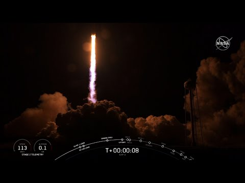 SpaceX launched its heftiest rocket with 24 research satellites early Tuesday. It marked the military's first ride on a recycled rocket. Both side boosters landed back at Cape Canaveral, but the new core booster missed an ocean platform. (June 25)