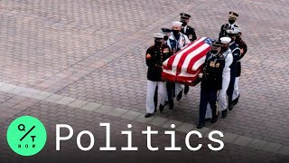 Ginsburg's Casket Arrives at U.S. Capitol to Lie in State