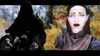 HUNTED BY NAZGUL!【SKYRIM LORD OF THE RINGS 600+ MODS】Ara-Celebrian Gameplay Part 2 [PC - HD]