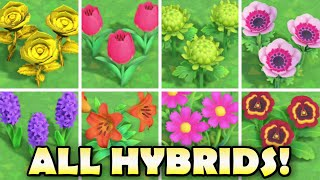 🌼 ALL HYBRID FLOWERS In Animal Crossing New Horizons & How To Grow Them EASY!