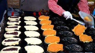 Japanese Street Food - Taiyaki, Pancakes, Snacks, Dumplings, Grilled Fish...