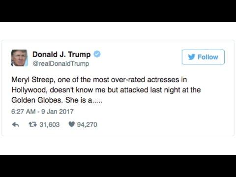 Trump Reacts To Meryl Streep's Golden Globe Speech