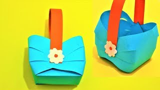 DIY Easter Basket- Paper Bag- Easy DIY Origami For Kids