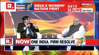 Home Minister Shri  Amit Shah addresses Republic Summit 2019