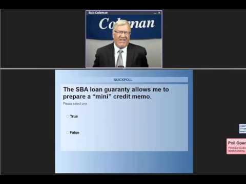 Coleman's Certified SBA 7(a) Loan Underwriting Training Office ...