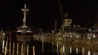 USS Constitution Final Movement into Dry Dock