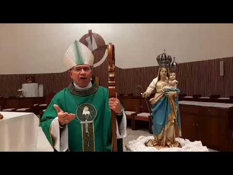 Agradecimento do Bispo Dom Amilton da Novena do Preciosíssimo Sangue de Jesus.