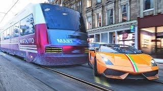 Driving Lamborghini and Train | Forza Horizon 4 | Simulation Best Gameplay