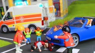 Playmobil Film deutsch: Unfall vor der Schule & Kita + Julians Familie   Kinderserie für Kinder