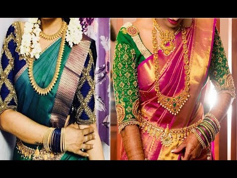 d2a24140aefaa Top 10 Embroidery Work Blouse Designs For Border Saree