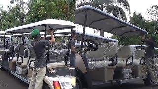 Golf Car dan Shuttle Bus Transportasi yang Boleh Berkeliling di Area JSC saat Asian Games 2018