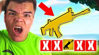 WINNING FORTNITE WITH ONE GUN CHALLENGE! (Battle Royale)