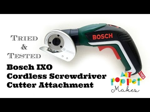 Bosch IXO Cordless Screwdriver Cutter Attachment in Action