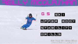 "GS Ski ""short Turn"" Upper Body Stability Drills Lesson"