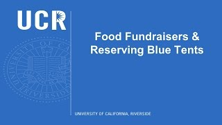 Food Fundraisers And Reserving Blue Tents