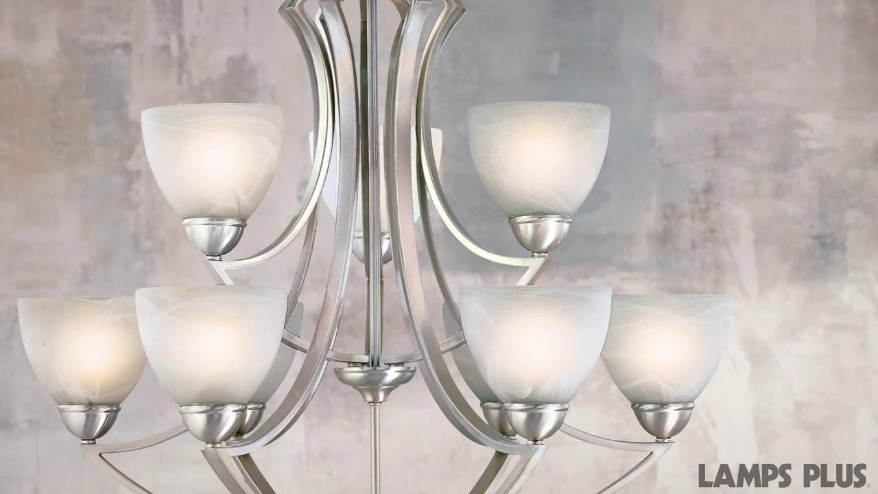 """Possini Euro Design Milbury Nine Light 30"""" Wide"""