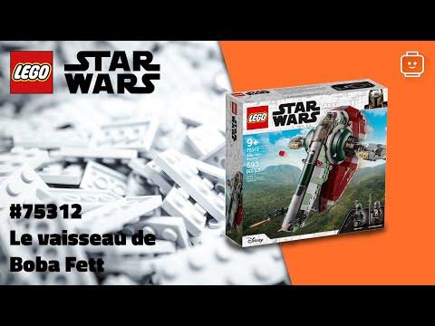 Vidéo LEGO Star Wars 75312 : Le vaisseau de Boba Fett