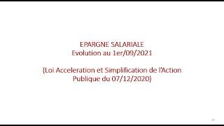 Replay Réunion actualité mai 2021 – Epargne salariale