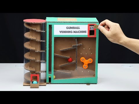 Wow! DIY Amazing Gumball Vending Machine with Coin