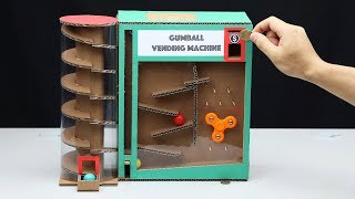 Wow! DIY Amazing Gumball Vending Machine with Coin - Video Youtube