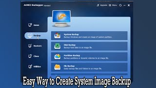 Easy Way to Create System Image Backup
