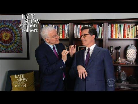 Steve Martin Teaches Stephen Colbert How To Comedy