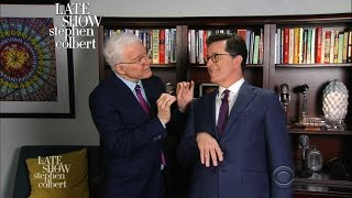 Watch Steve Martin teach comedy on The Late Show with Stephen Colbert
